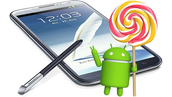Galaxy Note 2 için Lollipop Onaylandı