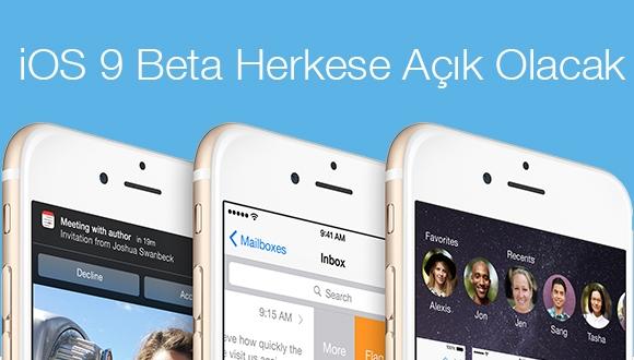 iOS 9 Beta Herkese Açık Olacak