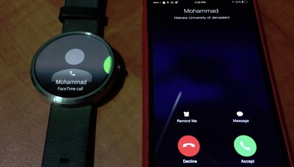 Android Wear ile iPhone'da Arama Yaptılar