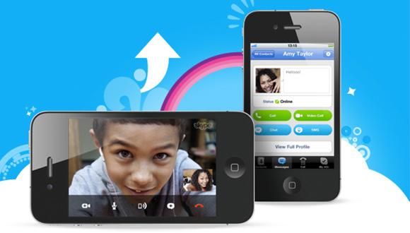 Skype 5.13 iPhone için Çıktı
