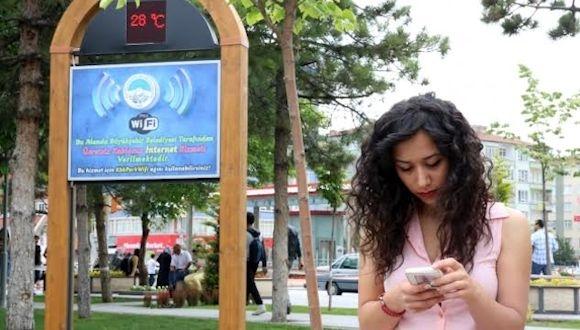 Kayseri Belediyesinden Ücretsiz İnternet Hizmeti