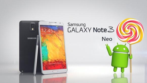 Galaxy Note 3 Neo için Lollipop Geliyor!