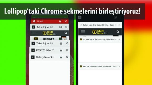 Chrome Sekmelerini Birleştirin!