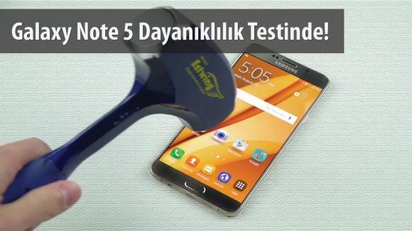 Galaxy Note 5 Dayanıklılık Testi!