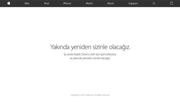 Apple Store, iPhone 6s için Kapandı