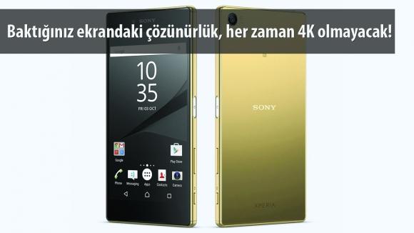Z5 Premium, Devamlı 4K Olmayacak