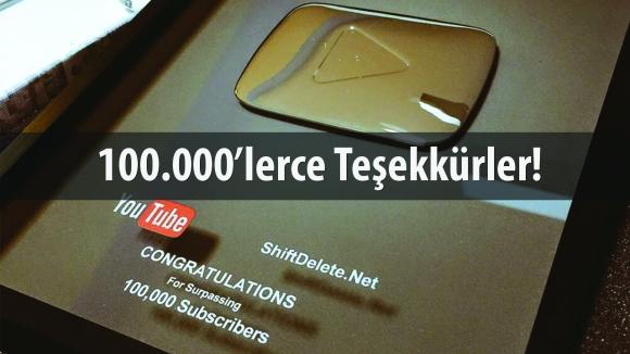 YouTube 100.000 Abone Ödülü Ofisimizde