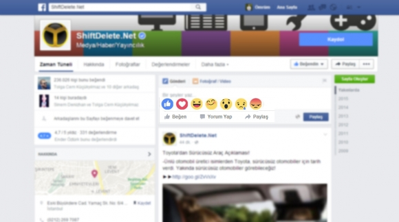 Facebook Beğen Butonuna Yeni Özellikler!