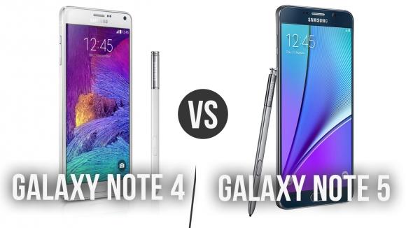 Galaxy Note 4 ile Note 5 Karşı Karşıya