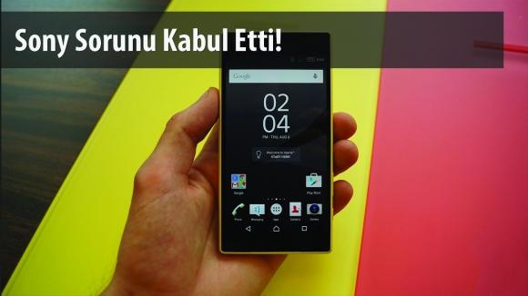 Sony, Z5 Compact Sorununu Kabul Etti!