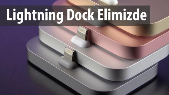 iPhone Lightning Dock Elimizde