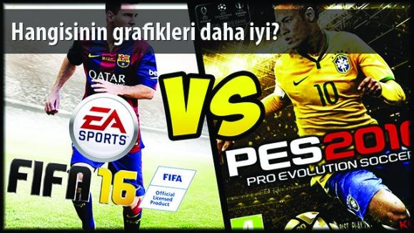 FIFA 16 vs PES 2016 Grafik Karşılaştırması