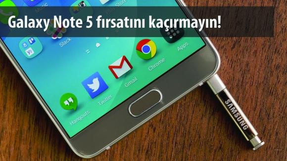 Galaxy Note 5 İndirime Girdi!