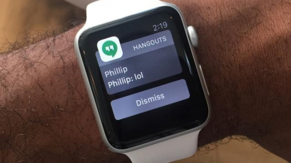 Hangouts, Apple Watch için Güncellendi