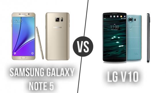 Note 5 ile LG V10 Karşı Karşıya