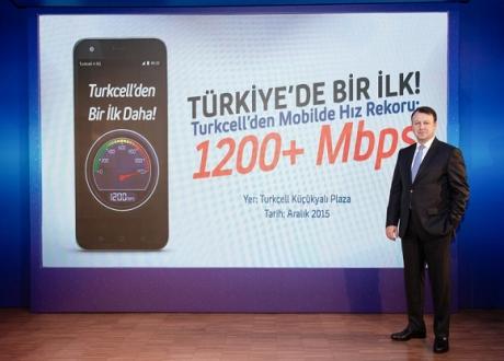 Turkcell'den 1.2 Gbps'lik Hız Rekoru!