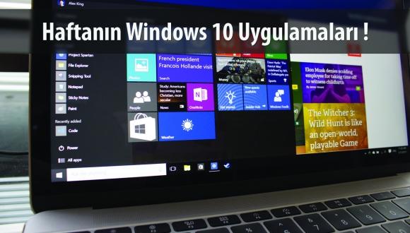 Haftanın Windows 10 Uygulamaları