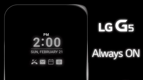 LG G5 Ekranı Sürekli Açık Olacak