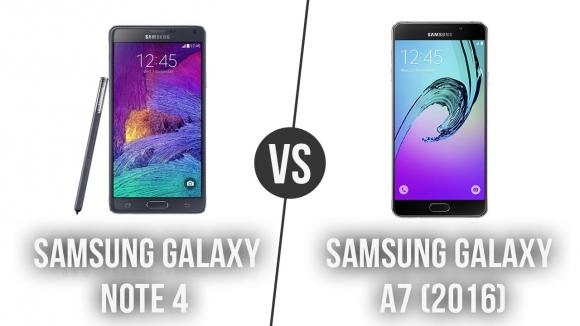 Galaxy Note 4 – Galaxy A7 2016 Karşılaştıma
