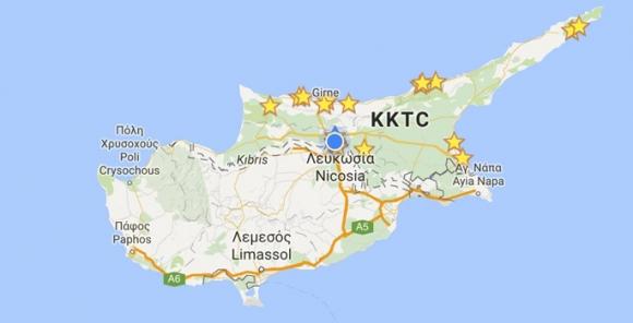 KKTC, Google Haritasında!