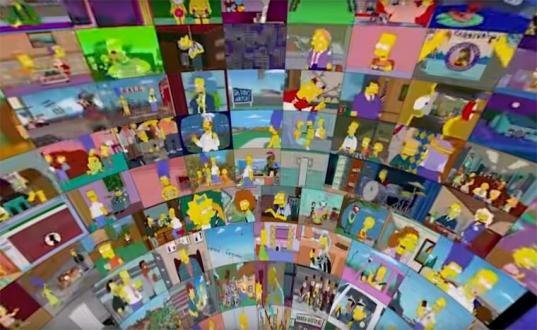 500 Simpsons Bölümü Bir Arada