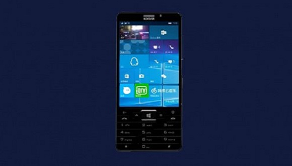 Fiziksel Klavyeli İlk Windows 10 Telefon