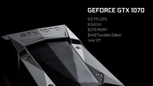 NVIDIA GTX 1070 Tanıtıldı