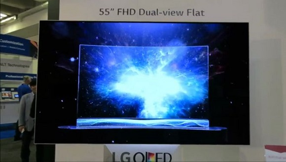 LG Çift Ekranlı Televizyon Sergiledi
