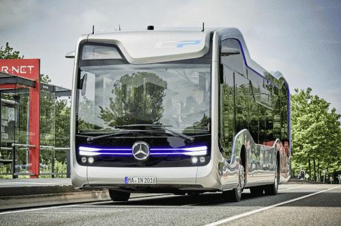 Mercedes'ten Sürücüsüz Otobüs Testi!