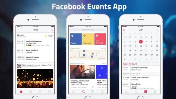 Facebook etkinlik uygulaması çıktı
