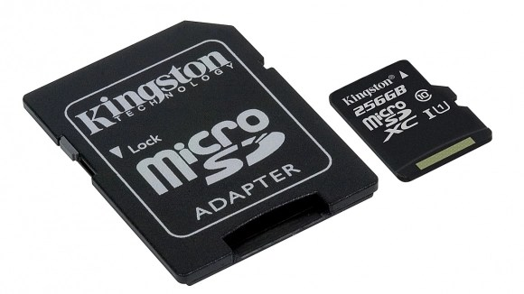Kingston, 256 GB microSD kartını duyurdu
