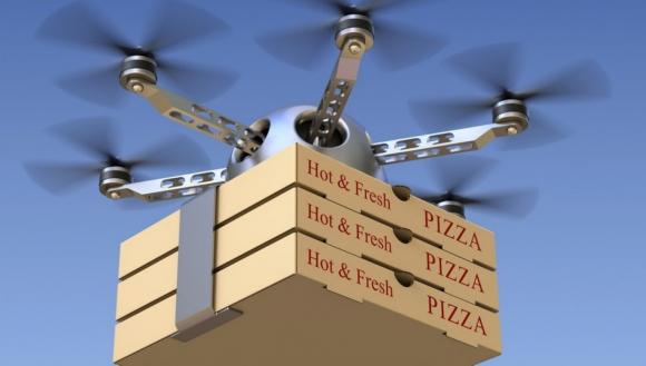 Drone ile pizza teslimatı başlıyor mu?
