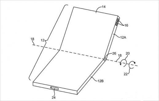 Apple bükülebilir iPhone için patent aldı