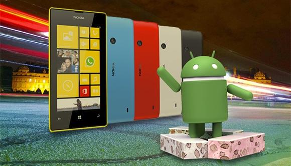 Lumia 520'de Android 7.1 Nougat çalıştırdılar!
