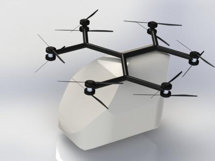 İnsan taşıyabilen modüler drone