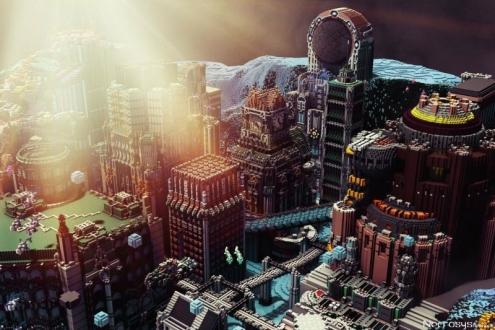 Bu yapılar Minecraft değil, adeta sanat!