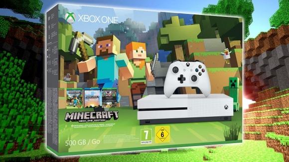 Xbox One S için Minecraft paketi