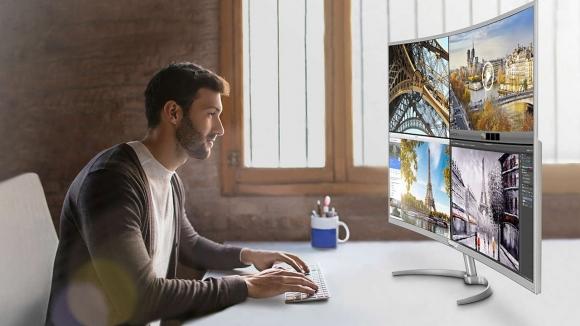 Philips 40 inç 4K kavisli monitörünü duyurdu