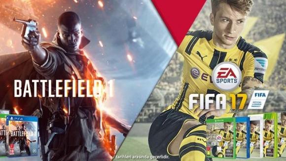 FIFA 17 ve Battlefield 1 için büyük indirim!