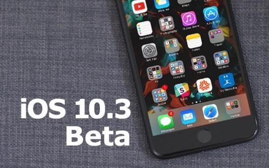 iOS 10.3 beta 1 yayınlandı!
