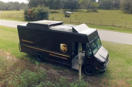 UPS kamyonlarında drone entegrasyonu!