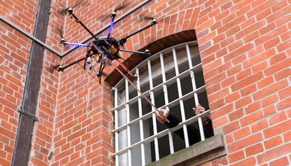 En ilginç drone kullanım alanı!