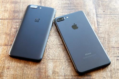 OnePlus 5 ve iPhone 7 Plus hız testinde!