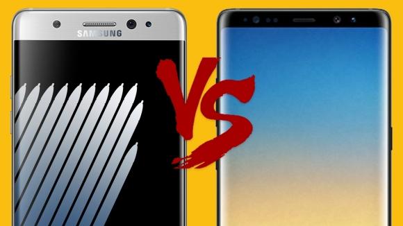 Galaxy Note 7 ve Galaxy Note 8 karşılaştırma