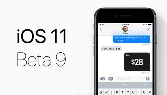 iOS 11 Beta 9 yayınlandı!