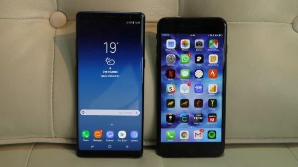 Note 8 ve iPhone 7 Plus hız testinde!