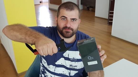 Çerçevesiz ekranlı LG Q6 kutusundan çıkıyor!