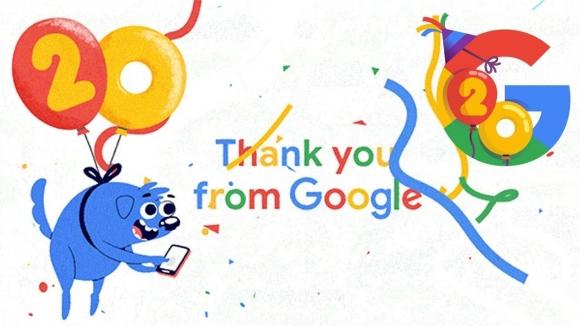 Google 20 yaşında!
