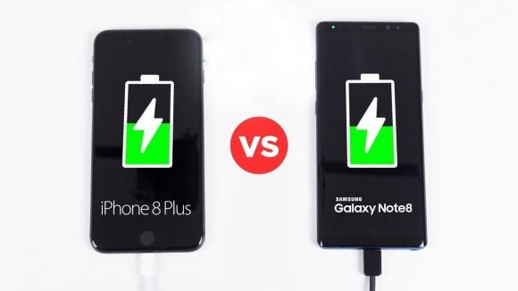 iPhone 8 Plus mı daha hızlı şarj oluyor Note 8 mi?