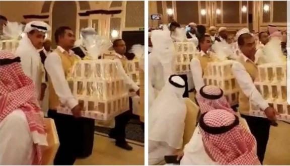 Düğünde herkese iPhone 8 hediye etti!